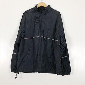 Ashworth Men's Black Windbreaker Jacket Sz XXL